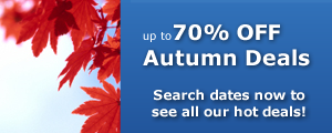 70% OFF Autumn Hotel Deals