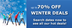 70% OFF Winter Hotel Deals